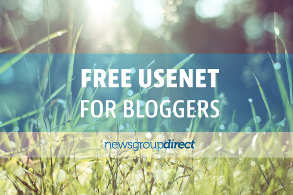 Free usenet if you have a blog